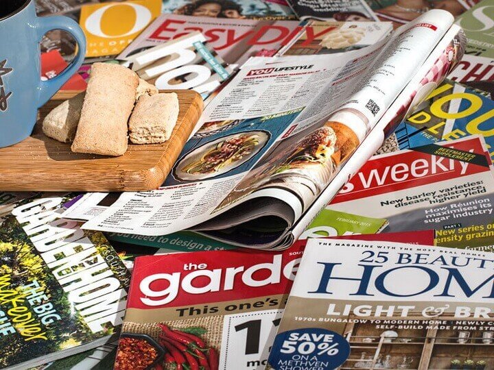 Magazines & publications that are electronically or printed published online