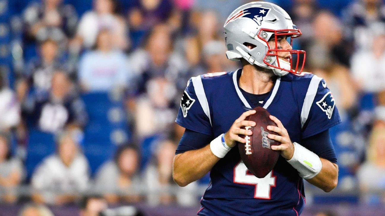 With Tom Brady gone, Jarrett Stidham now leads Patriots' QB group