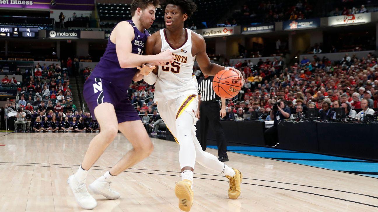 Minnesota's Oturu says he plans to enter draft